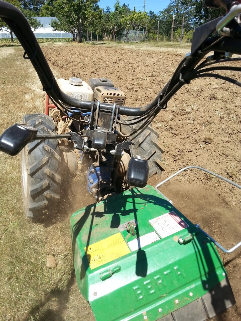 rotary plow action